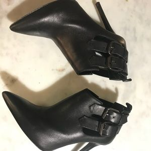 All Saints black leather ankle booties size 37/7